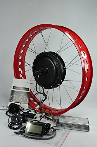 26inch 48V 1500W Brushless Gearless Motor /1500w Fat Tire Electric Bike Kit for Electric Beach Bike
