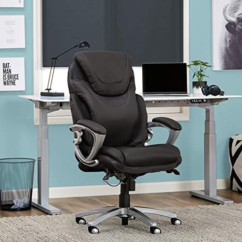 Serta 43807 Air Health and Wellness Executive Office Chair, Light Grey, Gray