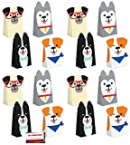 Puppy Dog 16 Pack Party Paper Loot Treat Candy Favor Bags with Attachments (Plus Party Planning Checklist by Mikes Super Store)