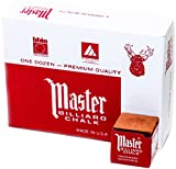 Master Billiard/Pool Cue Chalk Box, 12 Cubes, Rust