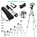 110cm Portable Camera Tripod Stand Holder Adjustable Rotatable Retractable Aluminum Tripods Smartphones Mount for iPhone X XR XS Max 7 7 6s 6 SE Plus Samsung S9 S8 Note 8 9 GoPro XiaoMi Moblie Phone