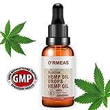 Hemp Oil Extract for Pain & Stress Relief - 30000mg of Organic Hemp Extract - 100% Natural Hemp Drops Hemp Seed Oil- Helps with Sleep, Skin & Hair,1 fl oz