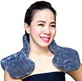 Shoulder & Neck Wrap Microwavable Heat Pad & Cooling Pad Therapy For Migraine Relief Stiff Neck Muscle Pain Arthritis Minor Injuries Hot or Cold Pack To Reduce Swelling & For Stress Relief (Dark Grey)