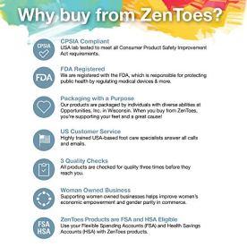 ZenToes Moisturizing Gel Spa Socks