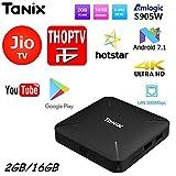 SreeTeK Android Box TANIX TX3 Mini L 2GB 16GB Android Box, Android Box for TV, JIO TV HotStar Netflix YouTube Miracast & More, 2.4G WiFi Smart Android TV Box 4K