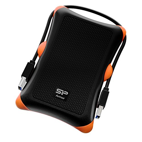 Silicon Power 2TB Rugged Portable External Hard Drive Armor A30, Shockproof USB 3.0 for PC, Mac, Xbox and PS4, Black