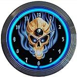 Neonetics 8 Ball Skull Neon Wall Clock, 15-Inch