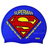 Swimming Cap Superman Logo Vector Swim Silicone Head Cap