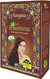 Kangana Henna Powder for Hair Dye/Colour - Dark Brown Henna Powder for 100% Grey Coverage - 6 pouches inside- Total 60g (2.11 Oz)