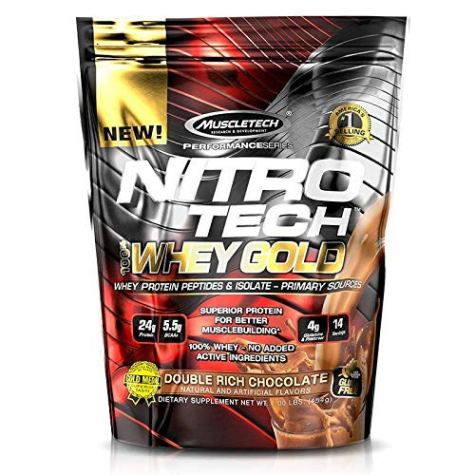 MuscleTech Performance Series Nitrotech 100% Whey Gold – 1 lbs (454g) (Double Rich Chocolate)