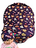 Rosy Kids Stretchy Infant Car Seat Canopy Cover, Jersey Car Seat Cover Elastic Nursing Scarf Privacy Cover with Matching Car Seat Handle Cover and Baby Hat, Color08JY18