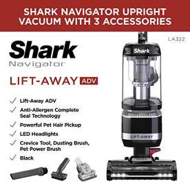 Shark-LA322-Navigator-Lift-Away-ADV-Corded-Lightweight-Upright-Vacuum-with-Detachable-Pod-Pet-Power-Brush-Crevice-and-Upholstery-Tool-Black