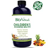 Bio Naturals Children's Liquid Multivitamin & Immune Booster - Natural Supplement for Kids & Toddlers with Vitamins A B C D3 E, Fiber, Fruits & Vegetables - No GMOs, Gluten, Sugar, Dairy, Soy - 16oz