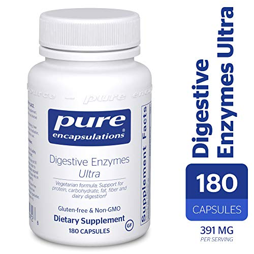 Pure Encapsulations - Digestive Enzymes Ultra - Comprehensive Blend of Vegetarian Digestive Enzymes - 180 Capsules