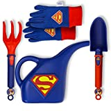 Midwest Quality Gloves DC Comics Friends Super Man Kids Garden Pack, Toddler, Multicolor