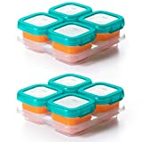 OXO TOT Baby Blocks Food Storage Containers, Teal, 4 Ounce - Set of 2