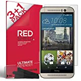 HTC One M9 Screen Protector - REDShield [Ultra HD Film] [Lucid Crystal Clarity] HTC One M9 Screen Protector [4 Pack] with Enhanced Touch Precision for HTC One M9 (2018)