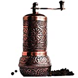 Bazaar Anatolia Pepper Grinder, Spice Grinder, Pepper Mill, Turkish Grinder (4.2' Antique Copper)