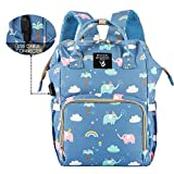 Cute Backpack Diaper Bags, HALOViE Mommy Backpack Multi-Function Large Capacity Insulation Waterproof Travel Back Pack Baby Nappy Bags Organizer with USB Charging Port