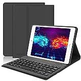 iPad Mini Keyboard Case Compatible iPad Mini 5 (5th Gen 2019) - iPad Mini 4 - iPad Mini 3 - iPad Mini 2 & 1 - Folio Leather Protective Cover, Ultra Thin & Light, Wireless Bluetooth Keyboard, Black