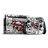 DC Comics Superman Nintendo Switch Bundle Skin - Superman Comic Logo in Red Vinyl Decal Skin For Your Switch Bundle