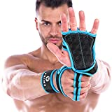 PRIM8 Workout Gloves with Wrist Support for Gym Workouts, Pull Ups, Cross Training, Weightlifting, Calisthenics, WOD, Exercise - Silicone Padding - Great Hand Grip & No Calluses