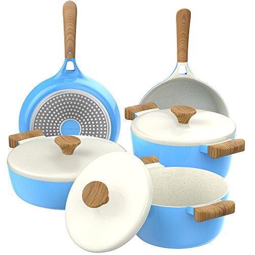 Vremi 8-piece ceramic nonstick cookware set