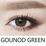 Cosplay Eyes Multi-Color Contact Lenses Cosplay Eyes Cute Colored Charm and Attractive Blends Cosmetic Makeup Eye Shadow (Green)