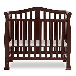 Dream On Me, Addison 4-in-1 Convertible Mini Crib, Espresso