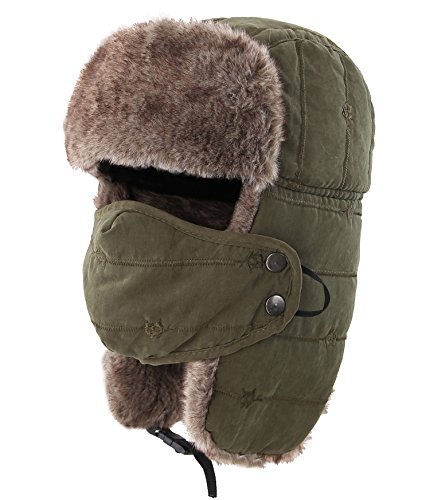 Connectyle Outdoor Trooper Trapper Hat Warm Winter Hunting Hats with Ear Flaps Mask Ushanka Hat