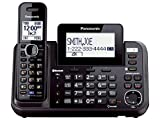 Panasonic KX-TG9541B Link2Cell Bluetooth Enabled 2-Line Phone with Answering Machine & 1 Cordless Handset (Renewed)