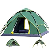 BaiYouDa 3-4 Person Instant Camping Tent Dual Layer 210D Oxford cloth...