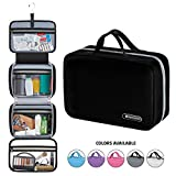 Hanging Travel Toiletry Bag for Men and Women | Makeup Bag | Cosmetic Bag | Bathroom and Shower Organizer Kit | Leak Proof | 2 Sizes - Large (34'x11') & XL Family Size (42'x13')