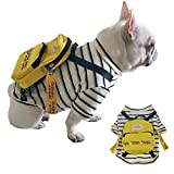 ROZKITCH Cute Pet Dog Backpack Shirt Travel Outdoor Hiking Adjustable Leash Saddlebag for Small Dogs