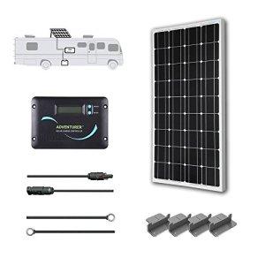 RENOGY 12 Volts Monocrystalline Solar RV Kit — with Adventurer Solar Charge Controller