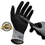 Hilinker Cut Resistant Gloves Highest Performance Knife Scissors Hands & Body EN388 Level 5 Protection Kitchen Work Safety Hand Protector Lightweight Durable Comfortable Indoor Outdoor Use Medium