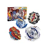 Battling Toy Tops Battle Burst Tops Blade Blade Toys for Kids Gyro Metal Fusion , 4X High Performance Tops Attack Set with Launcher and Grip Starter Grip , Stadium Arena (Random Color)