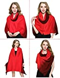 Warm Winter Scarfs for Women, Dewewede Fashinable Silk Scarf Blanket, So Many Ways to Wear - Makes You Feels Natural and Looks Elegant (Red)