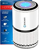 GENIANI Home Air Purifier with True HEPA Filter for Allergies and Pets/Smoke/Mold/Germs and Dust - Odor Eliminator and Air Cleaner for Large Room with Optional Night Light - 2 Year Warrantгy