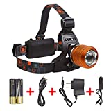 LIGHTESS LED Head Lamps Waterproof Headlamp Flashlight for Running, Camping, Hunting