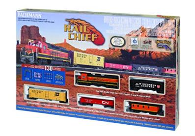 Bachmann-Trains-Rail-Chief-Ready-To-Run-130-Piece-Electric-Train-Set-HO-Scale