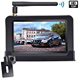 LeeKooLuu Wireless Backup Camera and 4.3'' Monitor System for Cars/Pickup/ATVs/SUVs/UTVs/Can-Am IP69 Waterproof 6 LED Light Night Vision HD Color Rear/Front View Camera with Guide Lines On/Off