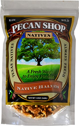 Fresh Shelled Texas Native Pecan Halves - Certified Pesticide-free and Wild-harvested 12 Oz.