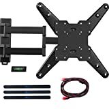 WALI TV Wall Mount Bracket with Full Motion Articulating Extend Arm for Most 26-50 inches LED, LCD Flat Screen TVs up to 88lbs VESA 400x400mm with Tilting for Display (MA4602), Black