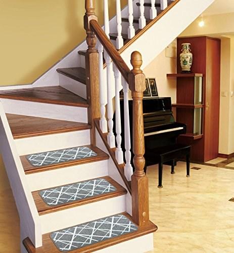 Seloom Stair Treads Carpet Indoor Non Slip Blended Jacquard Skid   Soloom Carpet Stair Treads   Blended Jacquard   Amazon   Beige   Mat   Flooring