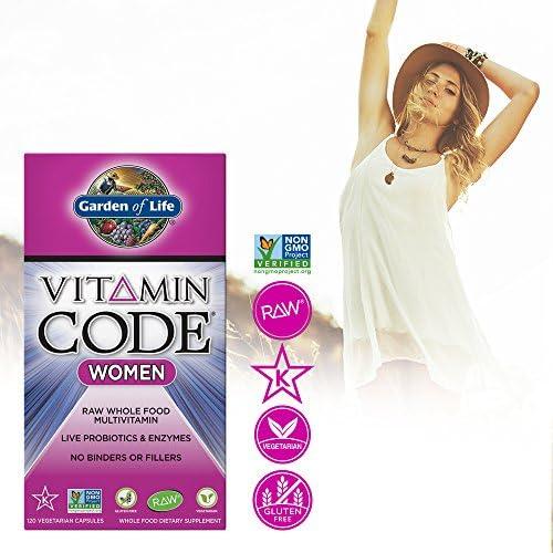 Garden of Life Multivitamin for Women, Vitamin Code Women's Multi - 120 Capsules, Whole Food Womens Multi, Vitamins, Iron, Folate not Folic Acid & Probiotics for Womens Energy, Vegetarian Supplements 5