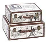 Product review for Deco 79 Wood Leather Box, 17 by 15-Inch, Set of 2
