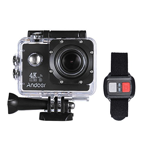 Action Camera, Andoer Action Sports AN4000 4K 30fps 16MP WiFi Camera Full HD 4X Zoom 40m Waterproof 170° Wide Angle Lens 2' LCD Screen Support Slow Motion Drama Photography Remote Control