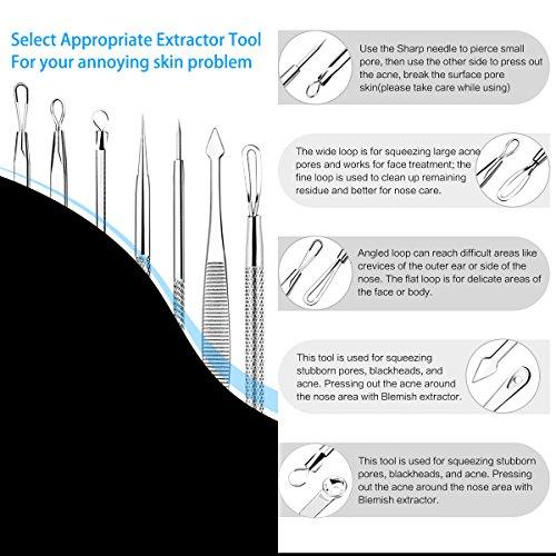Blackhead Remover Kit 7 PCS, Fypo Pimple Popper Tools for Whitehead
