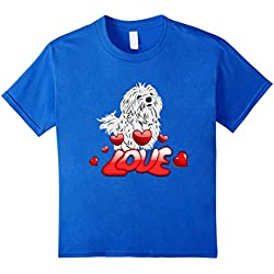 Maltese Dogs Love T-Shirt I Love Maltese Dogs Fans Gift